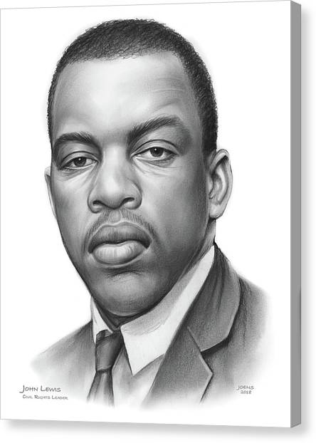 Rights Canvas Print - John Lewis by Greg Joens