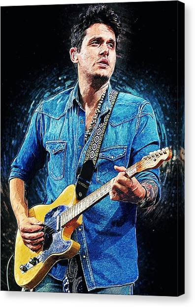 Eric Clapton Canvas Print - John Mayer by Zapista