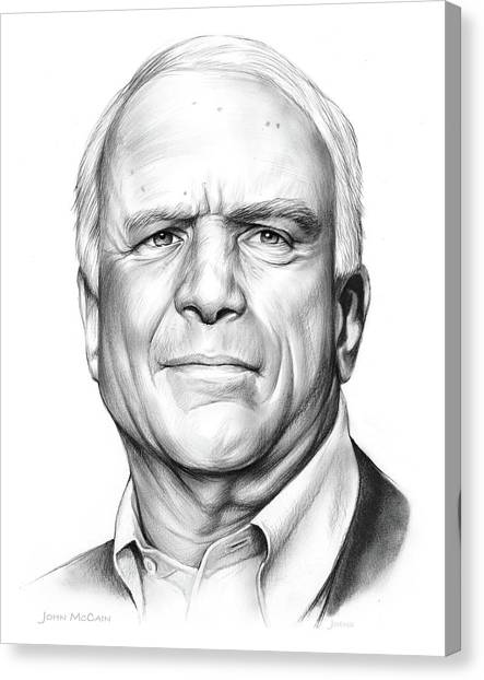 Republican Politicians Canvas Print - John Mccain by Greg Joens