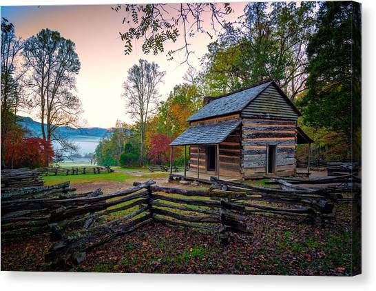 John Oliver Place In Cades Cove Canvas Print
