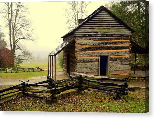 John Olivers Cabin Canvas Print