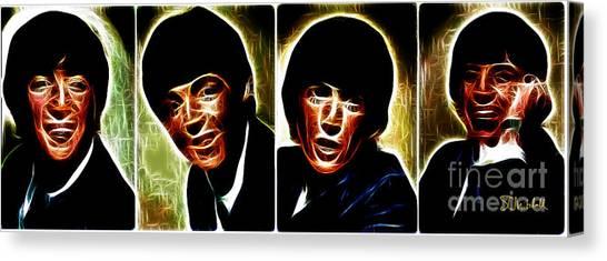John, Paul, George And Ringo Canvas Print