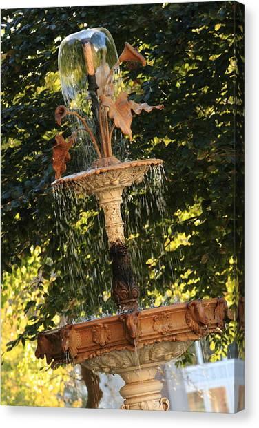 John Purdue Fountain In Color Canvas Print