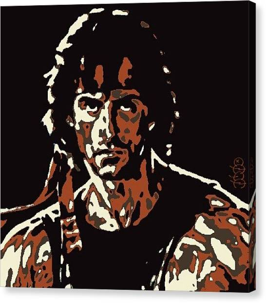 Sylvester Stallone Canvas Print - John Rambo by Nuno Marques