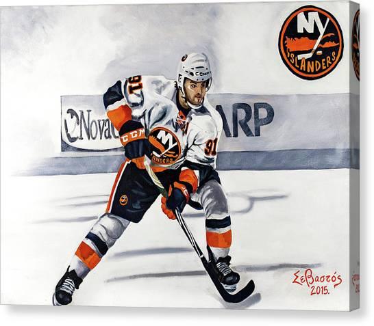 New York Islanders Canvas Print - John Tavares  by Sam Papantoniou