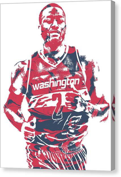 Washington Wizards Canvas Print - John Wall Washington Wizards Pixel Art 18 by Joe Hamilton
