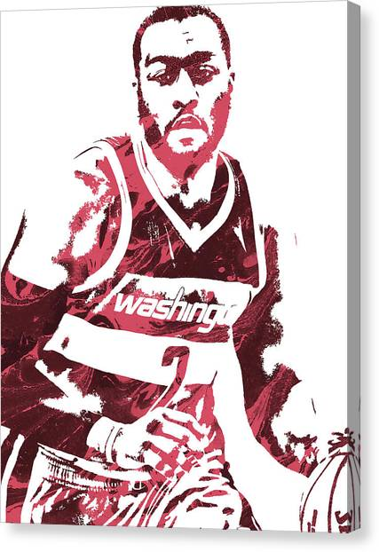 Washington Wizards Canvas Print - John Wall Washington Wizards Pixel Art 3 by Joe Hamilton