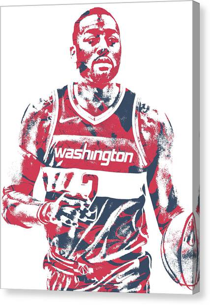 Washington Wizards Canvas Print - John Wall Washington Wizards Pixel Art 33 by Joe Hamilton