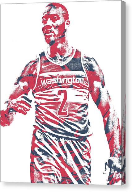 Washington Wizards Canvas Print - John Wall Washington Wizards Pixel Art 35 by Joe Hamilton