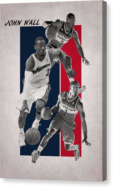 Washington Wizards Canvas Print - John Wall Wizards by Joe Hamilton