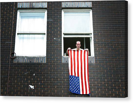 John Waves His Flag 3 Canvas Print by Jez C Self