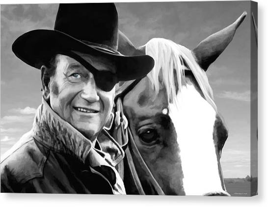 John Wayne @ True Grit #1 Canvas Print