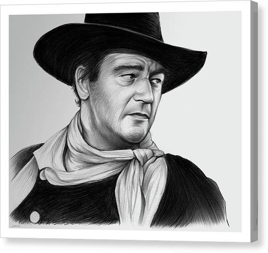 Duke University Canvas Print - John Wayne 29jul17 by Greg Joens