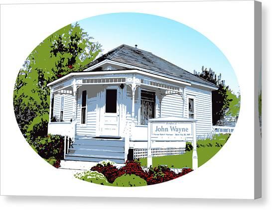 Iowa Canvas Print - John Wayne Home by Greg Joens