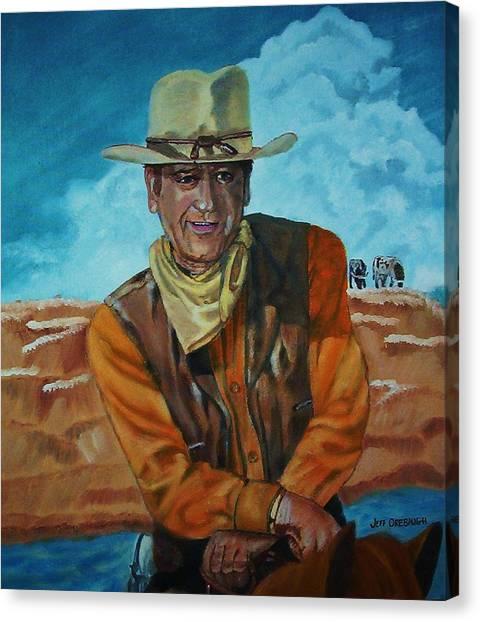 John Wayne Canvas Print by Jeff Orebaugh