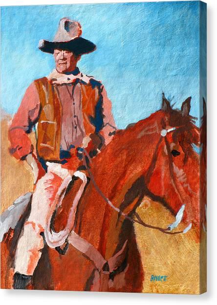 John Wayne Canvas Print by Robert Bissett