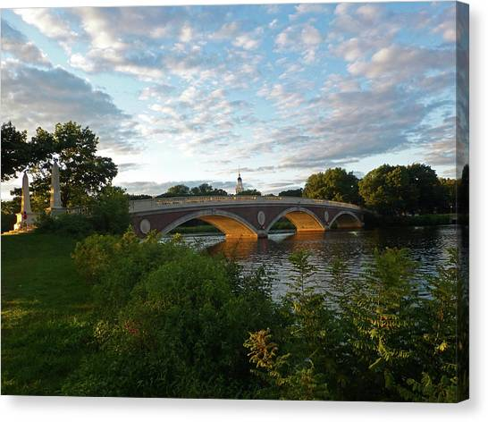 John Weeks Bridge In Harvard Square Cambridge Canvas Print
