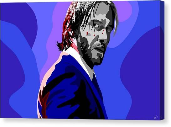 Keanu Reeves Canvas Print - John Wick, Keanu Reeves Popart by Paul Dunkel