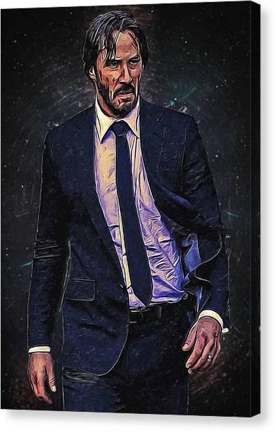 Keanu Reeves Canvas Print - John Wick by Semih Yurdabak