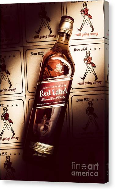Scotch Canvas Print - Johnnie Walker Red Label Blended Whisky  by Jorgo Photography - Wall Art Gallery