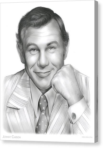 Johnny Carson Canvas Print - Johnny Carson by Greg Joens