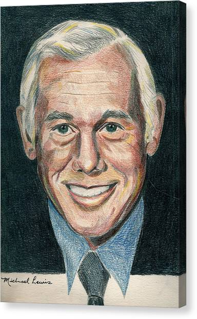 Johnny Carson Canvas Print - Johnny Carson by Michael Lewis