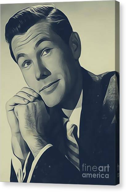 Johnny Carson Canvas Print - Johnny Carson, Vintage Entertainer by John Springfield