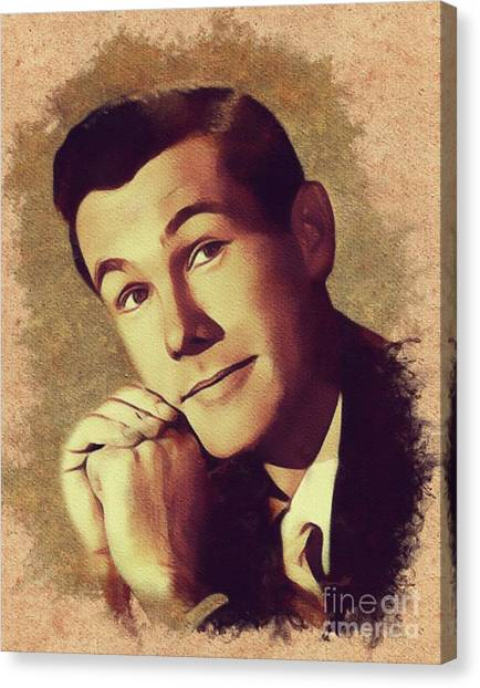Johnny Carson Canvas Print - Johnny Carson, Vintage Entertainer by Mary Bassett
