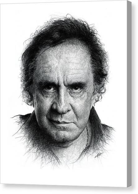 Johnny Cash Canvas Print