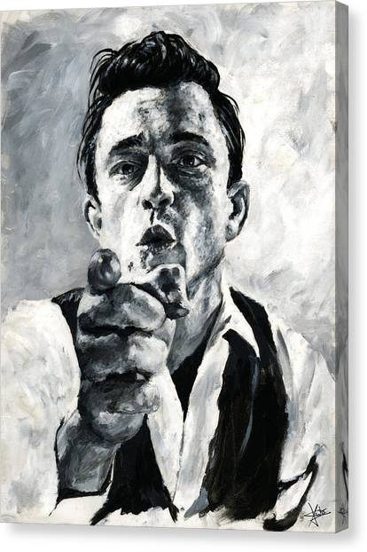 Johnny Cash II Canvas Print