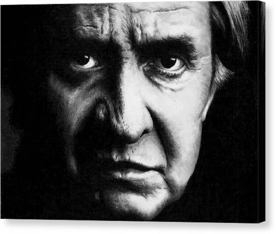 Johnny Cash Canvas Print - Johnny Cash by Jackie Russo