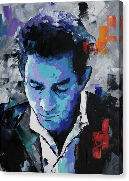 Johnny Cash Canvas Print - Johnny Cash by Richard Day