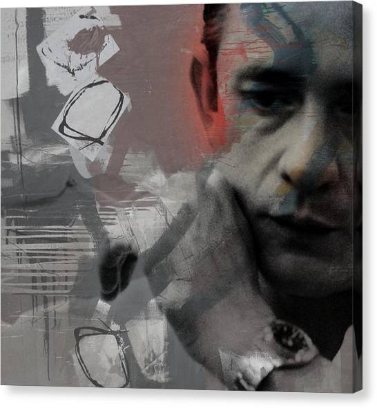 Johnny Cash Canvas Print - Johnny Cash - The Man Comes Around  by Paul Lovering