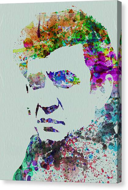 Johnny Cash Canvas Print - Johnny Cash Watercolor 2 by Naxart Studio
