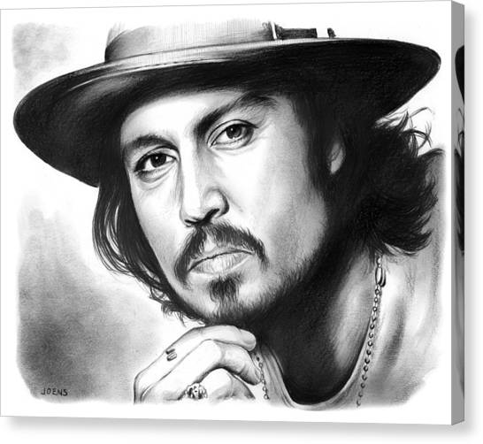Johnny Depp Canvas Print - Johnny Depp by Greg Joens
