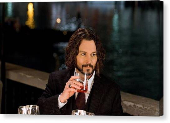 Johnny Depp Canvas Print - Johnny Depp by Jackie Russo