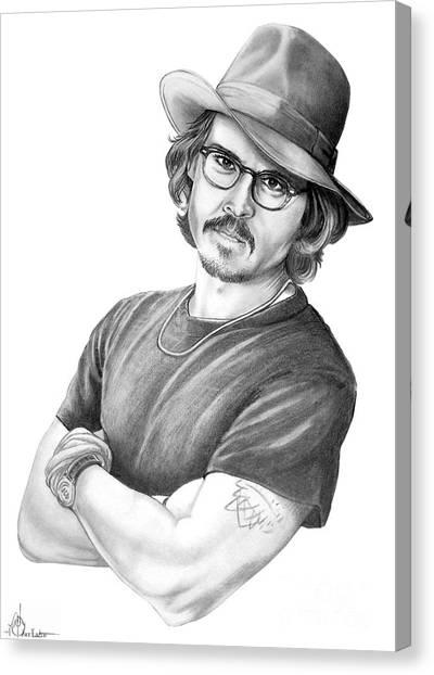 Johnny Depp Canvas Print - Johnny Depp by Murphy Elliott