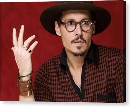 Johnny Depp Canvas Print - Johnny Depp by Super Lovely