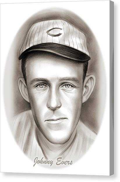 Philadelphia Phillies Canvas Print - Johnny Evers by Greg Joens