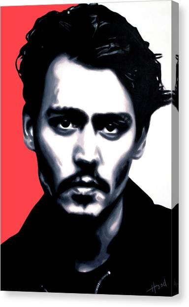 Johnny Depp Canvas Print - Johnny by Hood alias Ludzska