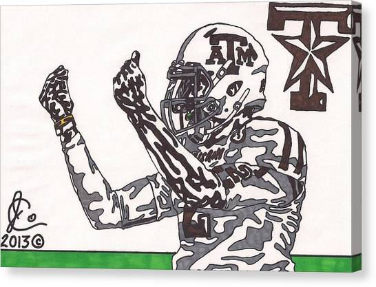 Texas A Canvas Print - Johnny Manziel 10 Change The Play by Jeremiah Colley