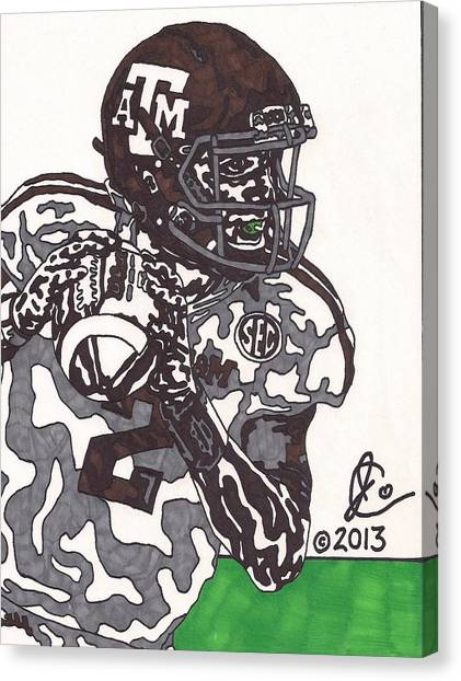 Johnny Manziel Canvas Print - Johnny Manziel 8 by Jeremiah Colley