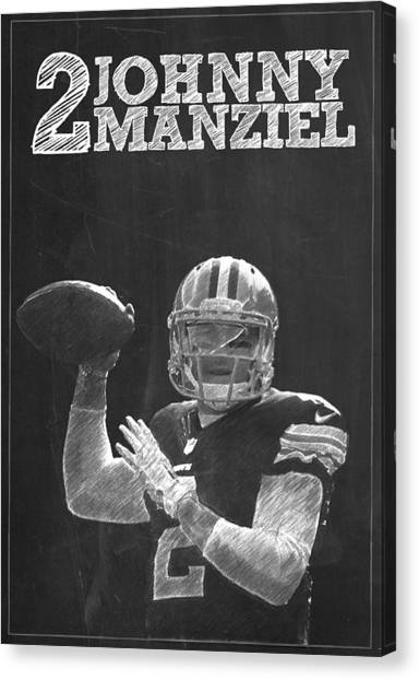 Johnny Manziel Canvas Print - Johnny Manziel by Semih Yurdabak