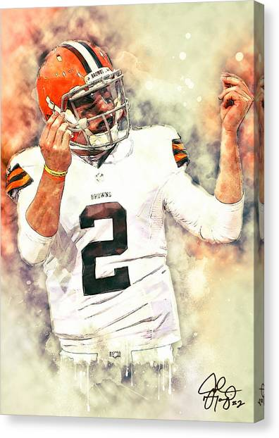 Johnny Manziel Canvas Print - Johnny Manziel by Zapista