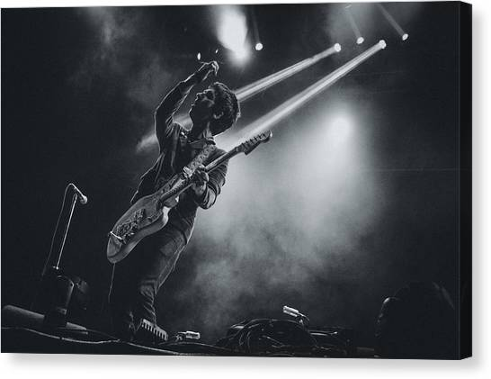 Johnny Marr Playing Live Canvas Print