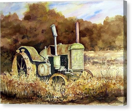 John Deere Canvas Print - Johnny Popper by Sam Sidders
