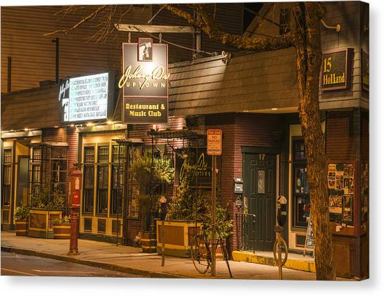 Johnny Ds Music Club In Davis Square Somerville Ma Canvas Print