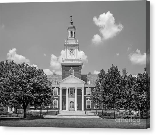 Johns Hopkins Canvas Print - Johns Hopkins Gilman Hall by University Icons