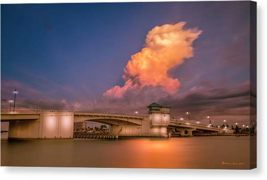 Rainclouds Canvas Print - John's Pass by Marvin Spates