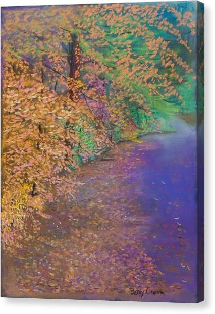John's Pond In The Fall Canvas Print